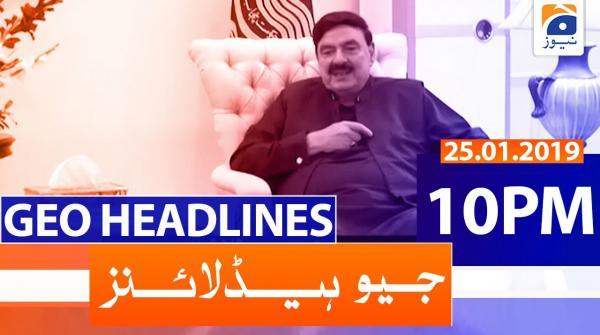 Geo Headlines 10 ٓPM | 25th January 2020