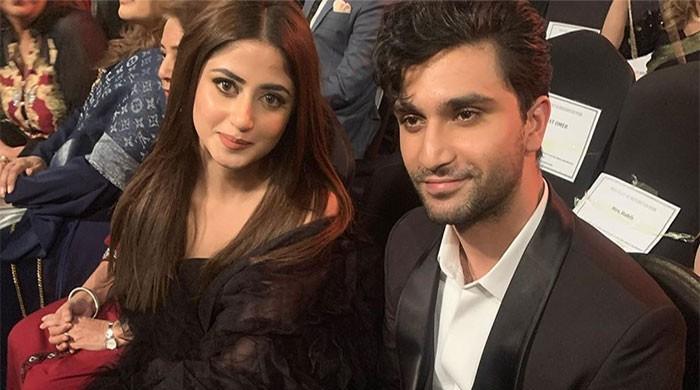 Sajal Ali, Ahad Raza Mir stun in all-black attires