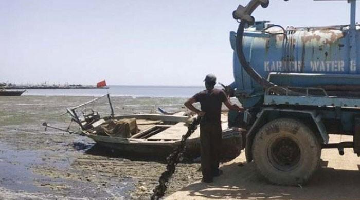 400mn gallons of untreated sewage being dumped into Karachi sea
