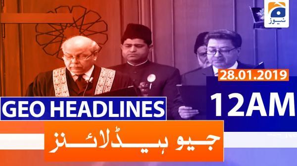Geo Headlines 12 AM | 28th January 2020