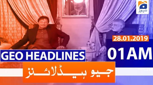 Geo Headlines 01 AM | 28th January 2020