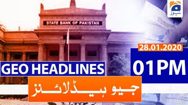 Geo Headlines 01 PM | 28th January 2020