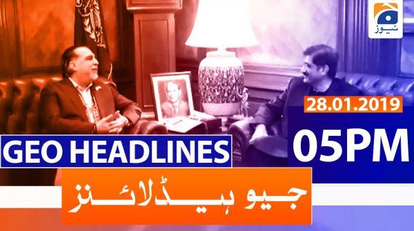 Geo Headlines 05 PM | 28th January 2020