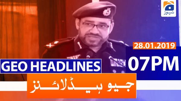 Geo Headlines 07 PM | 28th January 2020