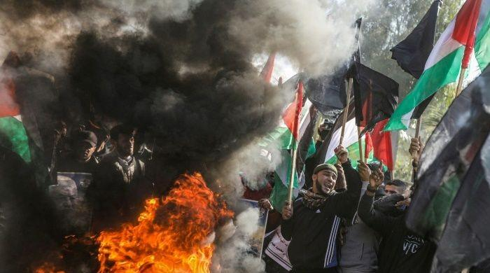 Palestinians launch protests against Trump's Middle East peace plan