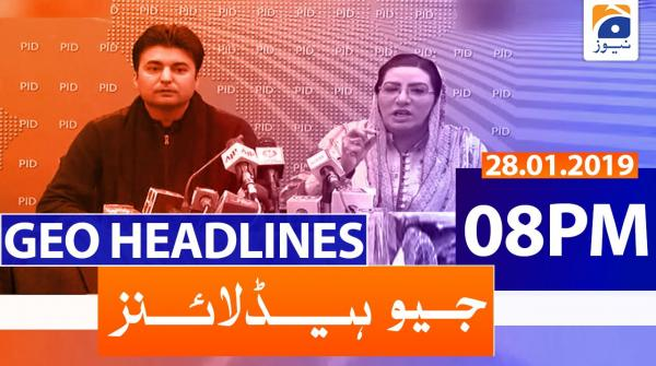 Geo Headlines 08 PM | 28th January 2020