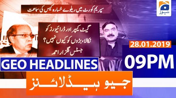 Geo Headlines 09 PM | 28th January 2020