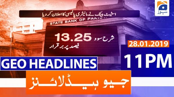Geo Headlines 11 PM | 28th January 2020