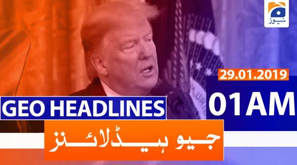 Geo Headlines 01 AM | 29th January 2020