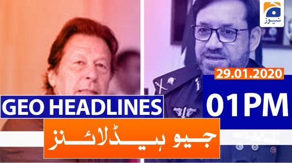 Geo Headlines 01 PM | 29th January 2020