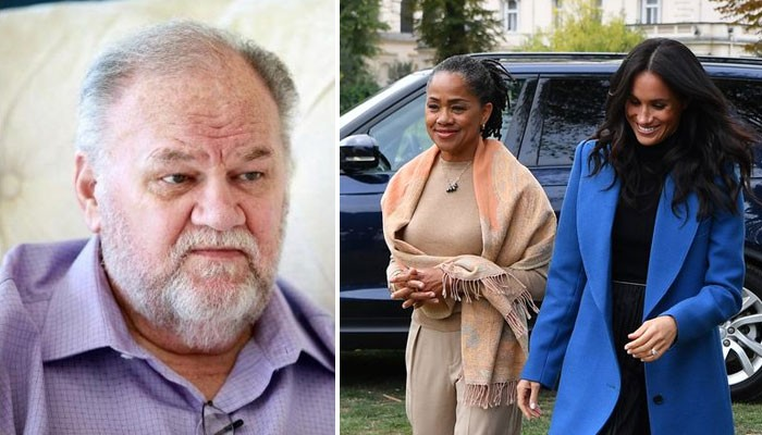 Harry, Meghan outraged over Doria Ragland getting dragged by Thomas Markle into the feud - Geo News