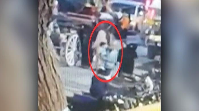 CCTV footage shows 'family' kidnapping infant from Karachi park