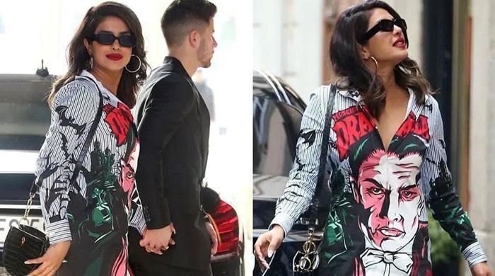 Priyanka Chopra drops jaws in a Dracula-print mini dress in Milan: Check out