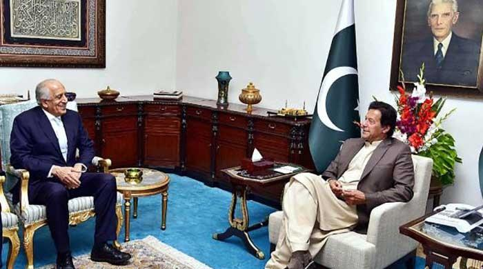 PM Imran meets Khalilzad, hopes for peace and stability in Afghanistan