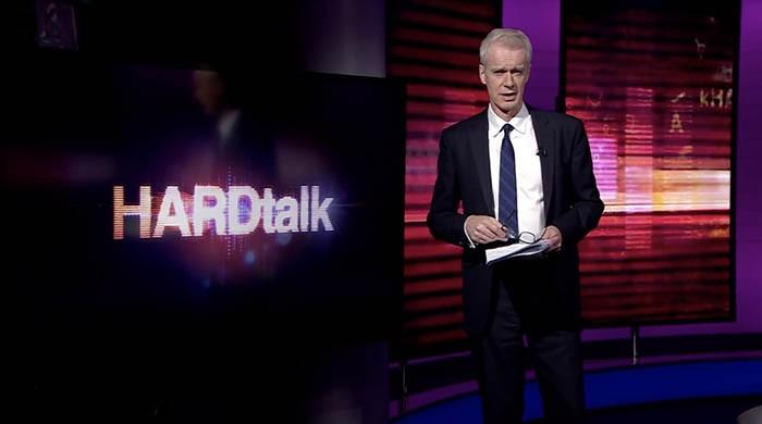 HARDtalk host Stephen Sackur takes a veiled dig at Indian journalist's hyper nationalism