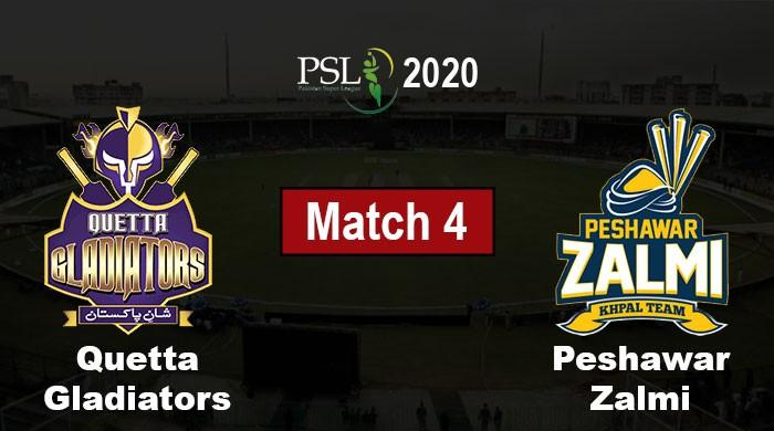 PSL 2020: Quetta Gladiators vs Peshawar Zalmi, Live Score, PSL 5 Match 04
