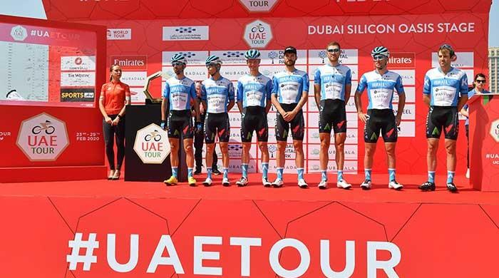 In a first, Israelis race in UAE cycling tour