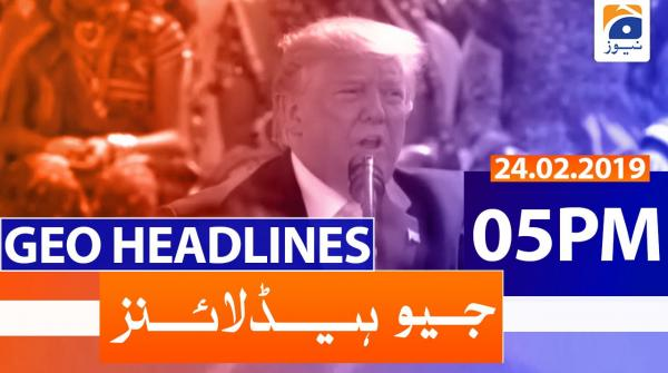 Geo Headlines 05 PM | 24th February 2020
