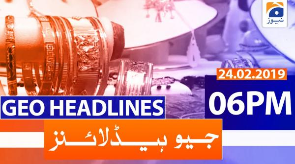 Geo Headlines 06 PM | 24th February 2020