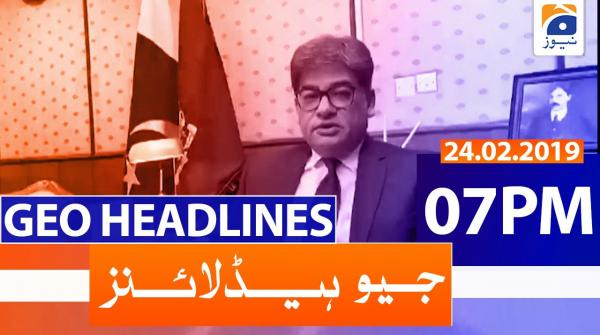 Geo Headlines 07 PM | 24th February 2020