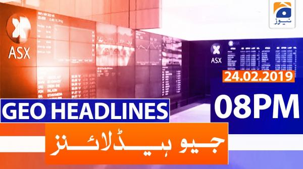 Geo Headlines 08 PM | 24th February 2020