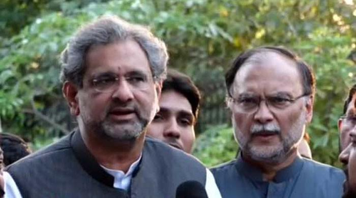 IHC grants bail to PML-N leaders Shahid Khaqan Abbasi, Ahsan Iqbal