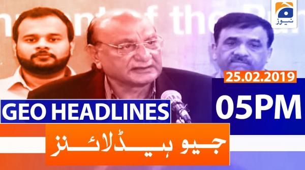 Geo Headlines 05 PM | 25th February 2020