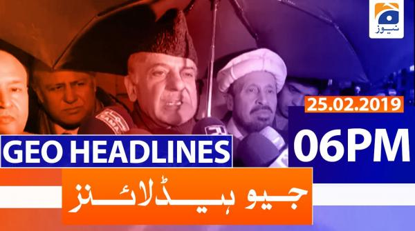 Geo Headlines 06 PM | 25th February 2020