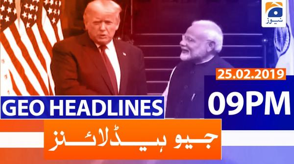 Geo Headlines 09 PM | 25th February 2020