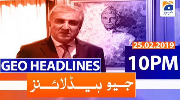 Geo Headlines 10 PM | 25th February 2020