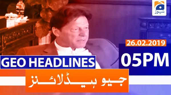 Geo Headlines 05 PM | 26th February 2020