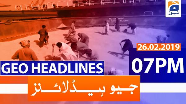 Geo Headlines 07 PM | 26th February 2020