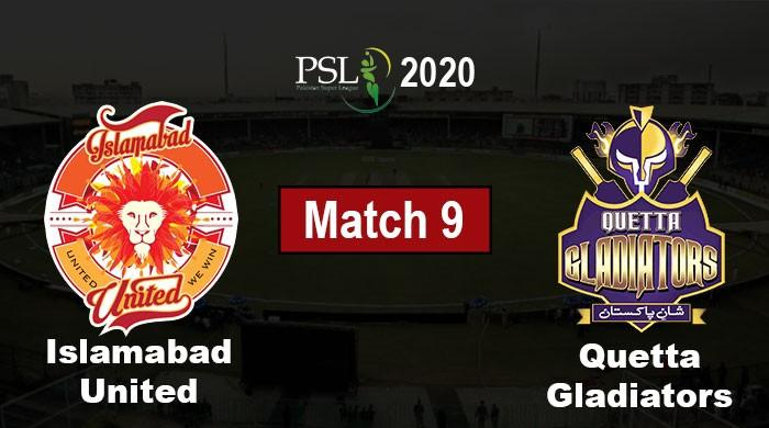 PSL 2020 Live: Islamabad United vs Quetta Gladiators, PSL 5 Match 9