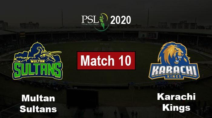 PSL 2020 Live Score: Karachi Kings vs Multan Sultans, PSL 5 Match 10
