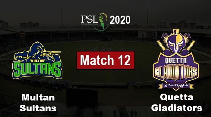 PSL 2020 Live Score: Quetta Gladiators vs Multan Sultans, PSL 5 Match 12