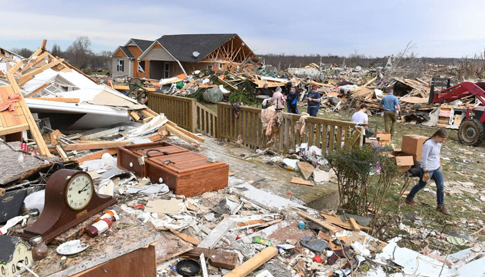 President Donald Trump visits Middle Tennessee to view tornado damage