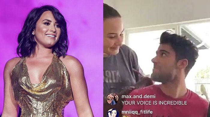 Demi Lovato and Max Ehrich's relationship out of the bag on his Instagram Live