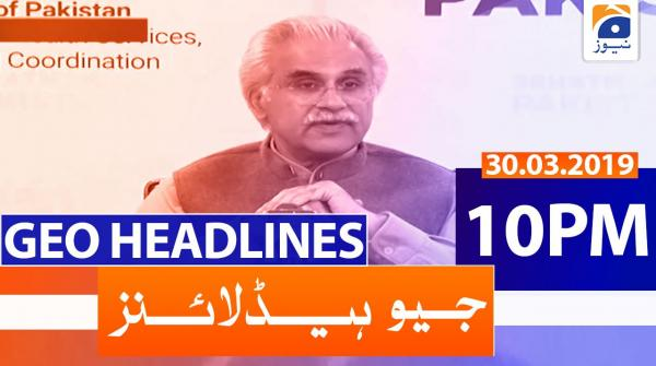 Geo Headlines 10 PM | 30th March 2020