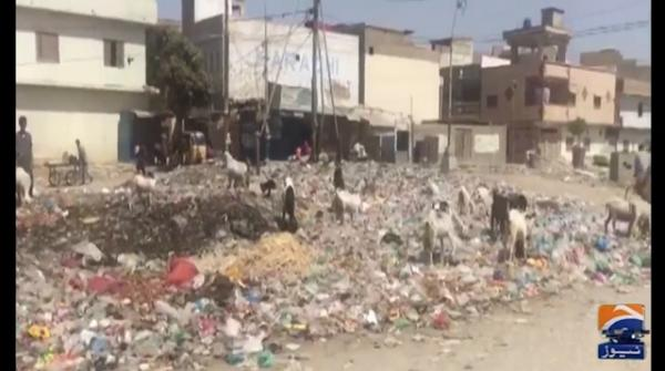Karachi once again becoming a garbage dump