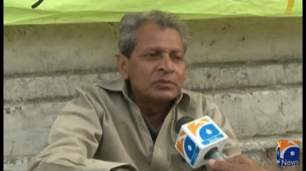 Eighth day of senior journalist Azhar Munir's hunger strike camp
