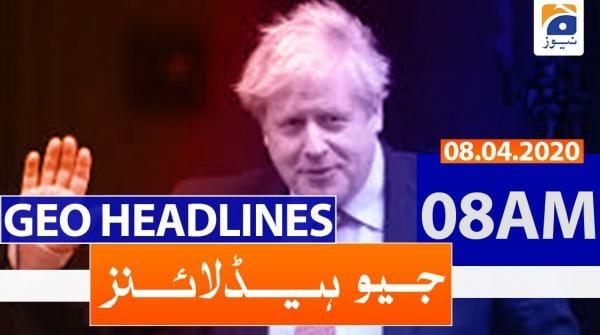 Geo Headlines 08 AM | 8th April 2020