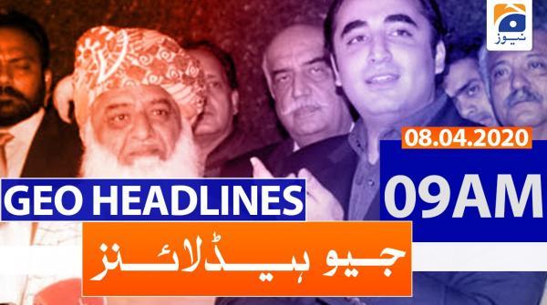 Geo Headlines 09 AM | 8th April 2020