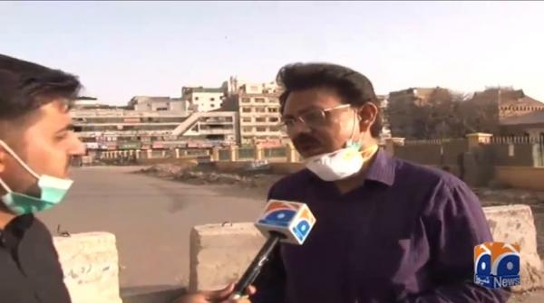 Doctors being stopped at pickets in Karachi