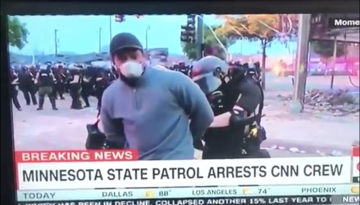 CNN reporter arrested on air at Minneapolis protests