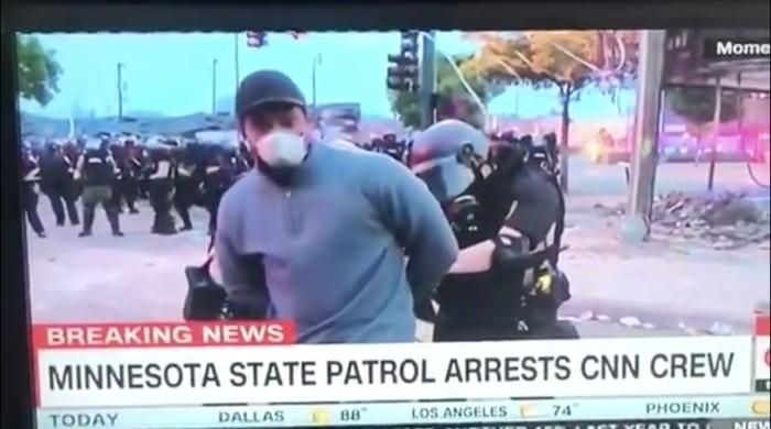 George Floyd protests: CNN reporter arrested live on air by US police