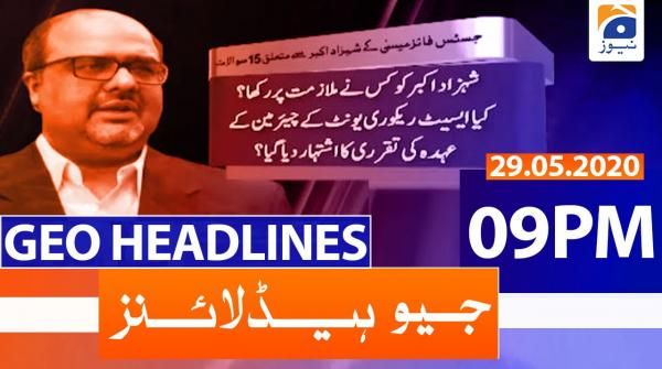 Geo Headlines 09 PM | 29th May 2020