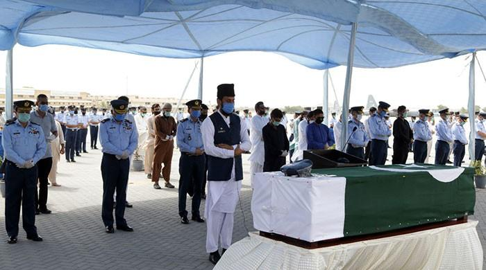 PAF officer who passed away in PIA plane crash laid to rest