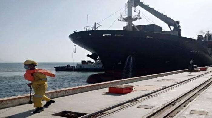 Under Afghan Transit Trade, first bulk cargo ship reaches Gwadar