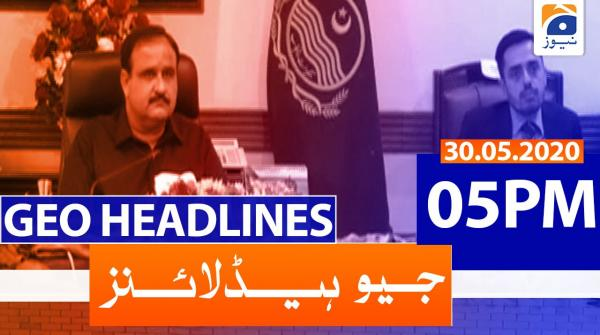 Geo Headlines 05 PM | 30th May 2020