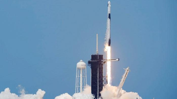 Historic launch: SpaceX rocket blasts off on private crewed flight to ISS